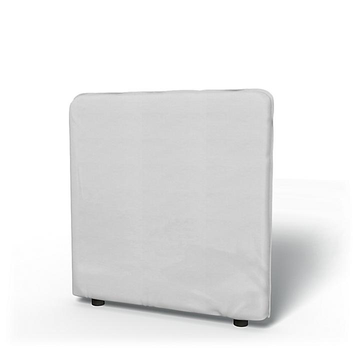 IKEA - Trekk til Vallentuna lav ryggpute 80x80 cm, Silver Grey, Bomull - Bemz