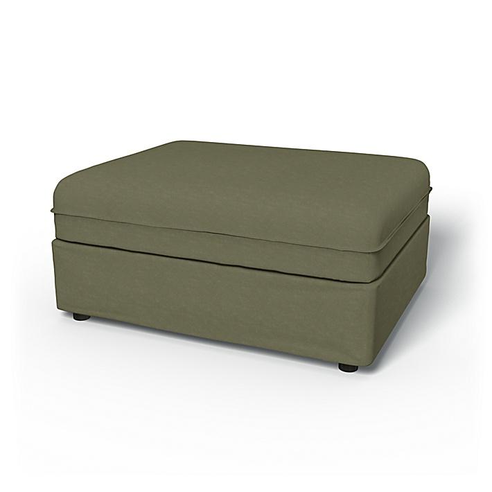IKEA - Överdrag till Vallentuna 1-sitssektion (100x80cm), Sage, Sammet - Bemz