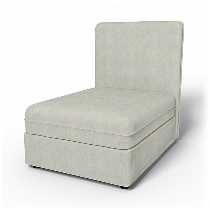 IKEA - Trekk til Vallentuna sittemodul med høy rygg 80x100 cm, Silver Grey, Conscious - Bemz