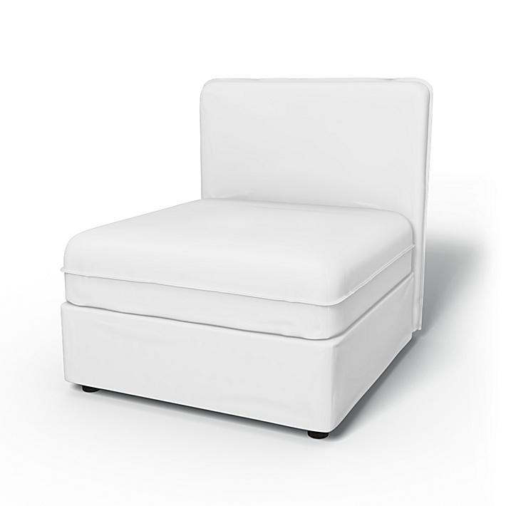 IKEA - Trekk til Vallentuna sittemodul med lav rygg 80x80 cm, Absolute White, Lin - Bemz