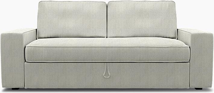 IKEA - Överdrag till Vilasund 3-sits bäddsoffa, Silver Grey, Conscious - Bemz