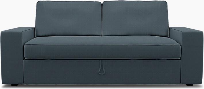 IKEA - Överdrag till Vilasund 3-sits bäddsoffa, Graphite Grey, Bomull - Bemz