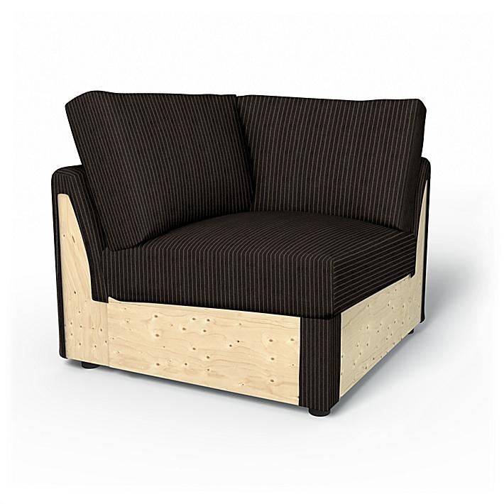IKEA - Trekk til Vimle hjørneseksjon, Graphite Grey, Conscious - Bemz