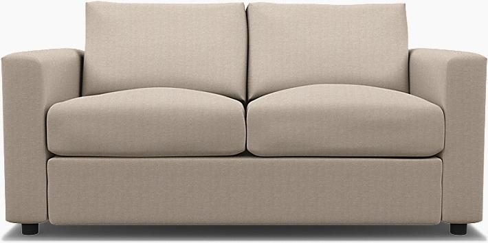 IKEA - Trekk til Vimle 2-seters sovesofa, Sand Beige, Conscious - Bemz