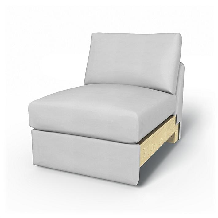 IKEA - Trekk til Vimle 1-seters seksjon, Silver Grey, Bomull - Bemz