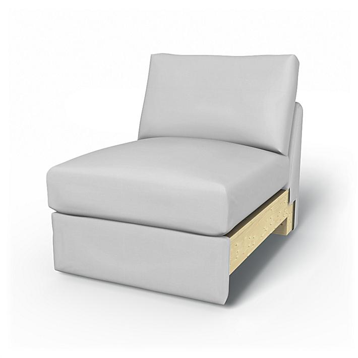 IKEA - Överdrag till Vimle 1-sitssektion, Silver Grey, Bomull - Bemz
